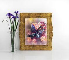 Original Watercolor Art . Butterfly . Fine Art . by MikaArtstore
