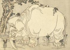 Katsushika Hokusai - Elephant