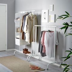 RIGGA Clothes rack - white - IKEA - Best Picture For minimalist bedroom For Your Taste You are looking for something, and it is going - Bedroom Wardrobe, Wardrobe Rack, White Wardrobe, Ikea Bedroom, White Clothing Rack, Clothing Racks, Wardrobe Clothing, Simple Clothing, Bedroom Decor