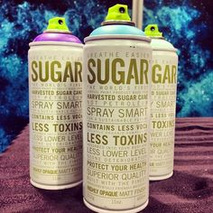 The word's first aerosol paint made from harvested sugar cane NOT petroleum.