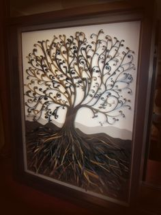 """""""Tree of Life"""" by Southern Twist Quilling Designs. This was a custom design, that is done by hand. Beautiful! LOVE IT"""