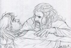 """"""" ofahattersmind: """" """"Can you not do something?"""" """" I love line art, and yours is amazing! Legolas And Aragorn, Thranduil, Rr Tolkien, Tolkien Books, Injured Pose Reference, Fili Und Kili, Hobbit 3, Film Books, Middle Earth"""