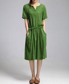 long linen dresses summer