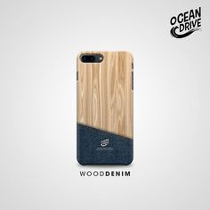 Wood Denim Pattern Print
