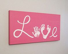 Jede Farbe Liebe Handabdruck und Fußabdruck von SnowFlowerArts