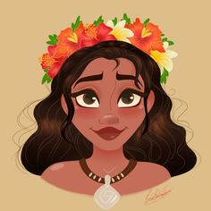 Moana Flower Crown by princessbeautycase on DeviantArt