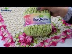 Crochetando com EuroRoma e Marcelo Nunes - Rosa Dupla Franzida - YouTube