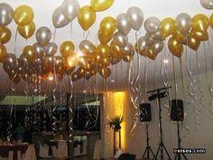 decoracion con velas para boda sencilla | Una boda convencional... pero diferente: Decoración con globos
