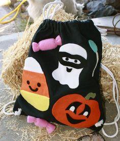 Halloween Trick or Treat Canvas Bag