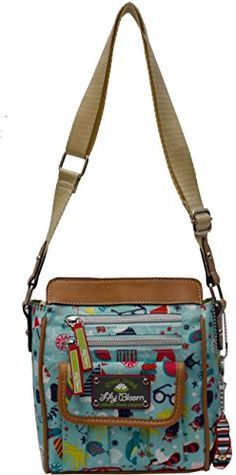 8b64c1399 Lily Bloom Jamie Beach Crossbody Handbag One Size Blue multi