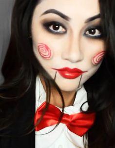 Maquillage de poup e sur pinterest maquillage de clown maquillage de poup e effrayant et - Maquillage poupee halloween ...