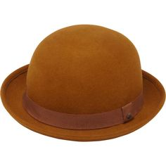 Schoolgirl Hat Oak Wool Felt ($170) ❤ liked on Polyvore