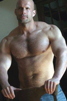sexy bald men with hairy chest - Images - WebCrawler Bald Men, Hairy Men, Bearded Men, Muscle Bear, Daddy Bear, Hommes Sexy, Muscular Men, Hairy Chest, Mature Men