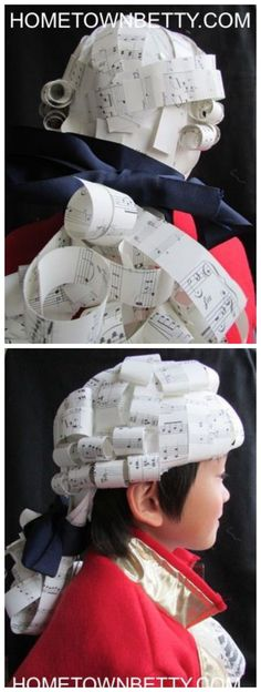 TUTORIAL: Mozart-Inspired Paper Wig. I'm sure this will come in handy at some…