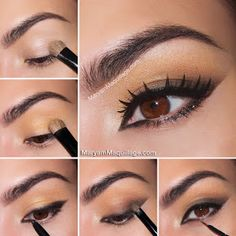 Makeup for Asian Eyes - vertical gradient for hooded or Asian Eyes