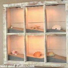 Seashell window!. http://m.hometalk.com/#/post/910167/media?id=173127