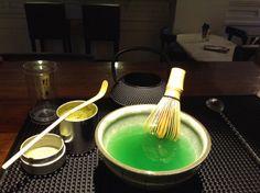 Matcha tea...fine powder green tea