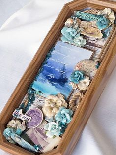 Looking for some Beach themed inspiration for your Summer Projects? Look no further than Reneabouquets!! Design Team Artist Terry Nelson put together this gorgeous French Riviera themed project using lots of Beach perfect accents by using the following products: Prima French Riviera Collection Kit,Prima French Riviera Flowers Deep Blue Sea, Prima French Riviera  Chipboard, RB Shard Glitter Mermaid RB Secret Garden Butterflies http://www.Reneabouquets.com…