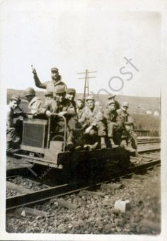 Miners & Railroad Workers Vintage Snapshot 1930's by PhotoGhost