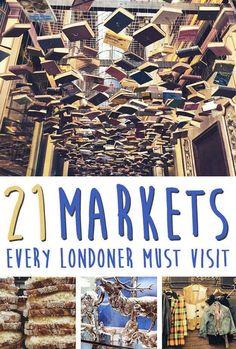 21 Charming Markets Every Londoner Must Visit  #RePin by AT Social Media Marketing - Pinterest Marketing Specialists http://ATSocialMedia.co.uk