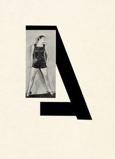 "Karel Teige: A jazz-age alphabet from Prage, 1926 ""A"" #graphics #typeface"