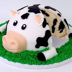New vid up, link in bio!  How-To make a cow cake with an inside COW PATTERN!   #cow #cake #cake love #animal #bessy #video #howto #diy #moo #funny #vlog #fondant #recipe #baking #cakestagram   #nocakelimits # #