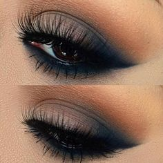 "Makeup Inspo for tonight ❤️ Smokey Navy-Blue  Use our Mink lash style ""illicit"", if you haven't got yours Treat yourself"