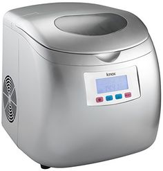 Knox Portable Compact Ice Maker w/LCD Display (Silver) - 2.8-Liter Water Reservoir, 3 Selectable Cube Sizes - Yield of up to 26.5 Pounds of Ice Daily, 2016 Amazon Most Gifted Ice Makers  #Kitchen