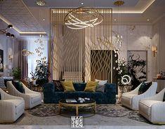 living room on Behance Living Room Tv Unit Designs, Living Room Sofa Design, Home Room Design, Design Bedroom, Fancy Living Rooms, Classic Living Room, Living Room Murals, Living Room Decor, Dining Room