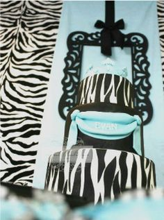 "Photo 5 of 17: Tiffany blue inspiered zebra baby shower / Baby Shower/Sip & See ""Zebra"" 