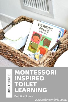 Sharing some of the Montessori-inspired and practical ideas that have helped toilet learning to go smoothly for two boys! Montessori Toddler, Montessori Toys, Toilet Training, Potty Training, Training Tips, Educational Activities For Toddlers, Bathroom Baskets, Toddler Age, Parent Resources