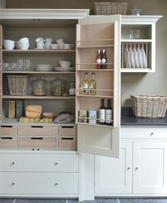 Slide Out Kitchen Pantry Drawers: Inspiration - The Inspired Room                                                                                                                                                                                 More