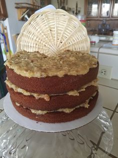 German Chocolate Cake first one I've ever made, my Mom's favorite cake, never knew, made it for her 01/26/2017, 81st birthday.