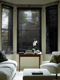 Black Gloss Wooden Venetian Blind - Fully made to measure from just £30.64 www.orderblinds.co.uk Re-Pin or follow us please : )