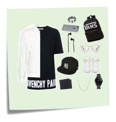 """""""For my bro"""" by tho0134 on Polyvore featuring Post-It, Givenchy, Kent & Curwen, Ray-Ban, BUSCEMI, New Era, Master & Dynamic, Incase, Levi's and Vans"""