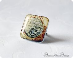 Ring Steampunk Gift idea for her under 15 20 30 by SunDevonaDesign, $12.00