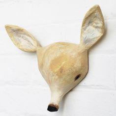 Deer Paper Mâché Animal Head