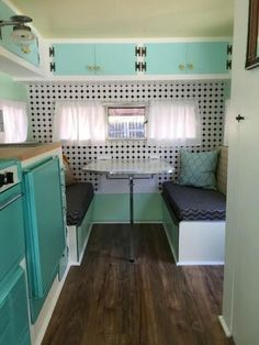 What are the Best Retro Caravan Interiors? Best Ever What are the Best Retro Caravan Interiors? 46 top Vintage Caravans Interior Makeover A Bud Camper Interior Design, Vintage Camper Interior, Rv Interior, Interior Ideas, Vintage Camper Decorating, Vintage Caravan Interiors, Travel Trailer Interior, Decorating Ideas, Simple Interior