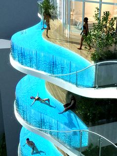 Mumbai's floating balcony pools