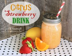 This recipe comes from food blogger and home decorator extraordinaire, Stacy Risenmay. It's a dead simple, healthy and delicious drink, perfect for spring and summer. And while some partsof the country arestill, believe it or not, getting snow, it's hitting the mid-eighties here in Plant City.A nice cool