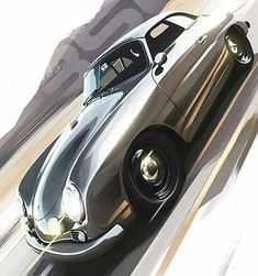 Motivezine Classics: Porsche 356 digital art by Kamil Podolak Explore future automotive projects on Car Posters, Poster S, E Motor, Car Design Sketch, Car Sketch, Sketch Art, Porsche 356 Speedster, Car Illustration, Porsche Cars
