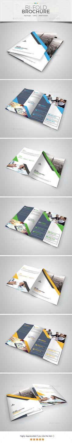 Corporate Bi Fold Brochure Template 05