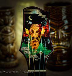 """Skull Island"" by Chuck Moore at Moore Bettah Ukuleles"