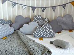 Kinderzimmer kissen Deko selber machen wolken