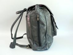 Vintage Black Leather Backpack by Hidesign by Etsplace on Etsy, $149.99
