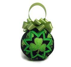 St Patricks irish day handmade quilted decoration by PinKyJubb, $16.00