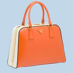 a0f6e403fb83 Delightful Prada take on a classic bowling bag! Prada TotePrada SaffianoBowling  BagsLeather BriefcaseFrame ...