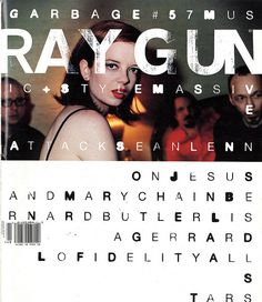 Ray Gun was an American alternative rock-and-roll magazine, first published in 1992 in Santa Monica, California. Led by founding art director David Carson, Ray Gun explored experimental magazine. David Carson Design, David Carson Work, Milton Glaser, Magazine Design Inspiration, Magazine Cover Design, Layout Inspiration, Massimo Vignelli, Raygun Magazine, Grafik Magazine