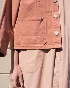 Give workwear classics the feminine touch with shades of blush and salmon like this @caroncallahan Krasner jacket in Melon Denim. Womenswear weekend by @laura_wgsn by wgsn