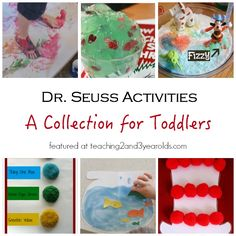 Dr. Seuss Activities for Toddlers - Teaching 2 and 3 Year Olds